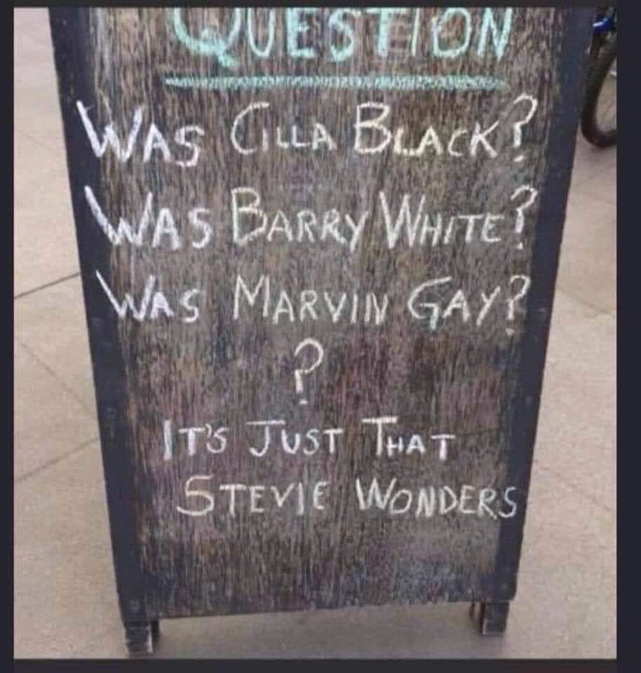 schoolbord Barry White Marvin Gay